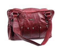 LADIES VINTAGE GENUINE LEATHER OVER SHOULDER MESSENGER HOBO TOTE HANDBAG