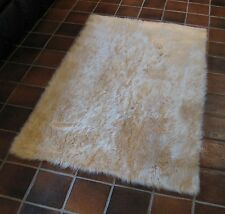 Light Beige FAUX FUR SEXY SHAG RUGS SOFTEST PLUSH FIBERS AND NON SLIP BACKING