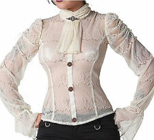 JAWBREAKER ROMANTIC STEAMPUNK GOTHIC BLOUSE GOTH VAMPIRE LACE TOP SHIRT SHA4805