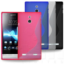 STYLISH SLIM S-LINE HYDRO GEL RUBBER CASE COVER FOR SONY XPERIA P MOBILE PHONE