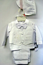 Baby Boy Communion Christening Baptism Outfit Suit Set size: XS S M L XL (0-24M)