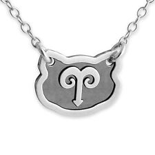 925 Sterling Silver Zodiac Aries Horoscope Astrology Necklace #Azaggi N0243S_ar