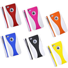 3 Piece Plastic Case Cover+Screen Guard+Cloth For iPhone 4 4S 4G 16GB 32G