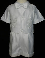 New Baby Infant Toddler Boy Christening Baptism Outfit sz S M L XL 2T(3M-36M) 3T