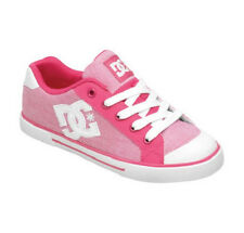 DC CHELSEA Womens Skate Shoes (NEW w/ FREE SHIPPING) Size 5-9 WHITE & CRAZY PINK