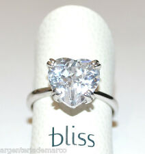BLISS - Anello princess a cuore in argento 925, zircone e diamante naturale!