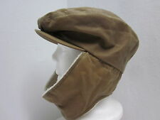 New Woolrich Oilcloth Cabbie Cap Hat w/ Berber Earflaps UPF50+ Water Repellent