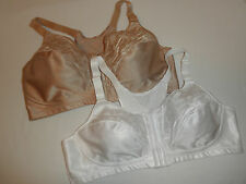 NWT Playtex 4643 Bra 18-Hour Posture and Back Support Wire-free  Nude or White