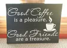 Good Coffee Friends Wall Vinyl Sticker Decal Quote Saying Kitchen Decor 23W x14H