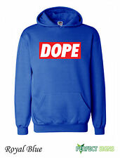 Dope  Mens  Micky Mouse Hands Mac Obey Hoodie S-2XL - royal blue III