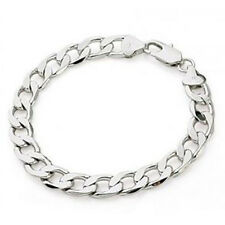 CURB LINK  BRACELET SOLID .925 STERLING SILVER Made in Italy Nickel Free