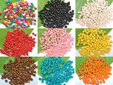 wholesale 1000/2000pcs Assorted Bright Colored Wooden Round Wood Beads 5X4MM