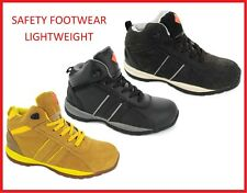 Safety Footwear Mens  Steel Toe Cap Work Boots High Top Ankle Trainers Hiking Sh