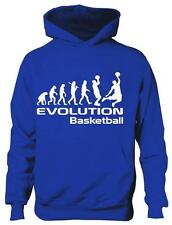 Evolution of  Basketball School Sport Boys Girls Kids Hoodie Gift  Age 5-13
