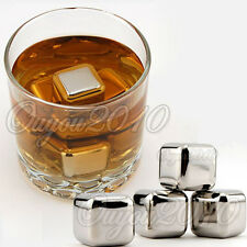 Stainless Steel Ice Cubes Glacier Rocks Neat Drink Whiskey Stones