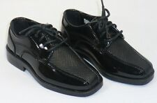 BOYS After Six A6048B Formal Dress Shoes Black Patent NIB Many sizes available