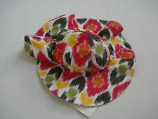 GYMBOREE Girl's Multi Color Batik Summer Hat Size 0-12 Mos NWT