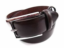 MENS HIGH PREMIUM QUALITY BONDED LEATHER BELT WITH SILVER