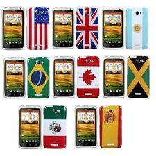 Multiple Flag Rubber Hard Case Cover For AT&T HTC One X