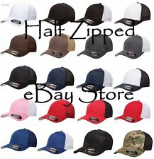 50 Flexfit Trucker Cap Fitted Mesh Baseball Hats 6511 One Size Hat WHOLESALE
