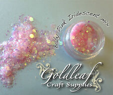 Multi size mix Nail art glitter & sequin Discs/ dots Baby Pink