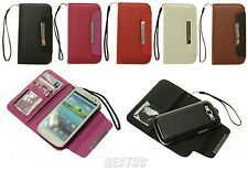 2 in 1 Samsung Galaxy S3 i9300 Flip Wallet Leather Card Hard Case Cover Pouch
