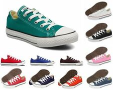 NEW GIRLS BOYS CONVERSE CT All STAR OX  CANVAS TRAINERS TEN 10 COLOURS UK 11-2