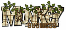 "Zoo Title ""Monkey Business"" Scrapbook Embellishment Title Piecing"