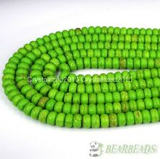 Green Turquoise Gemstone Rondelle Spacer Loose Beads 4mm 6mm 8mm 10mm 12mm 16''