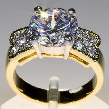 Gold Wedding Set or Cocktail Bling Fashion Ring gp cz Various Sizes Available