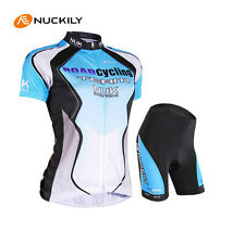 Blue Cycling Bicycle Comfortable outdoor Jersey + Shorts size S - XXL For Women