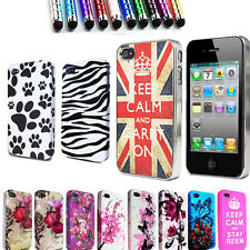 Flowers Silicone Gel Case Cover For  Apple iPhone 4S 4G 4 Free Screen Protector
