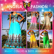 Angela New Adjustable Strap Women Summer Ladies Long Maxi dress Size M-XXL US