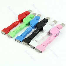 3 in 1 Charger Cable Retractable Mini Micro USB Sync for iPod iPhone 4 4S 3G HTC