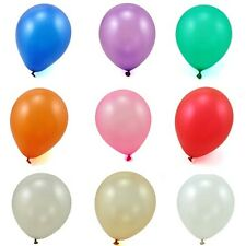"Pearlised Helium Quality Latex Balloons 10"" 12"" Decorations Wedding/Birthday"