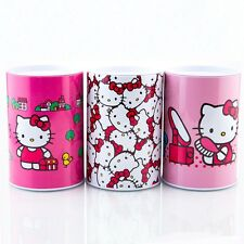 New Hello Kitty Piggy Bank Coin Jewelry Tin Money Jar Container Saving Box Case