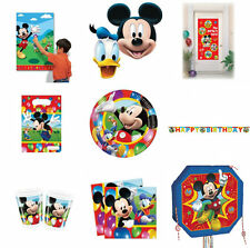 DISNEY MICKEY MOUSE CLUBHOUSE BIRTHDAY PARTY CUPS PLATE NAPKINS  PINATAS BANNERS