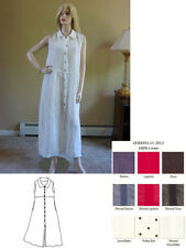 FLAX 12 UnderFLAX DRESSER Artsy LINEN Sleeveless Dress U-PIK COLOR 1G/1X