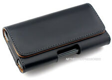 Black P-Leather Horizontal Case Pouch for SAMSUNG Phones. Holder w/Belt Clip New