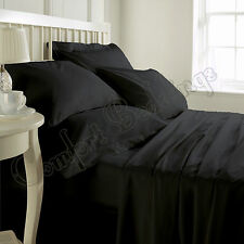 1000TC Luxurious Hotel Brand Black Bedding Set 100%Egyptian Cotton In ALL size