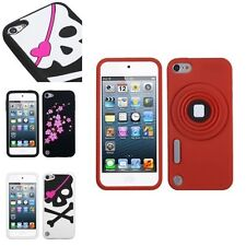 Silicone Rubber Flower Skull Soft Case Cover Skin For iPod Touch 5 5G 5th Gen