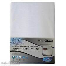 Terry Towelling Waterproof Deep Mattress Protector Single Double Super King Size