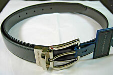 TOMMY HILFIGER REVERSIBLE LEATHER BELTS- BLACK/BROWN- ASSORTED SIZES- NEW