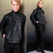 LIP SERVICE CYBER BIKER FAUX LEATHER GOTHIC MOTO CYCLE PUNK PVC GOTH COAT JACKET