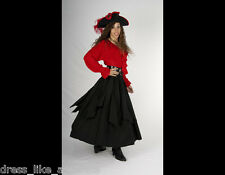 DRESS LIKE A PIRATE THICK COTTON FLUTTER FESTIVAL SKIRT XS-4X GRT TO CUSTOMIZE
