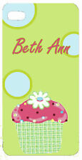 Personalized Custom iphone case cover 4 5 any text Cupcake so cute any text cake