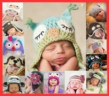 New Baby Boy Girl Animal Owl Beanie Child Photo Crochet Knit Costume Hat Prop