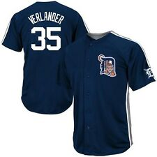 Justin Verlander Detroit Tigers Majestic Crosstown Rivalry Jersey - Navy Blue
