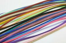 5m -meters- Soft Faux Suede Cord 3mm *NEW Colours+Glitter* *Choose colour*