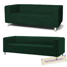 Green Cover Slipcover to fit IKEA KLIPPAN 2 or 4 Seater Sofa Settee Replacement